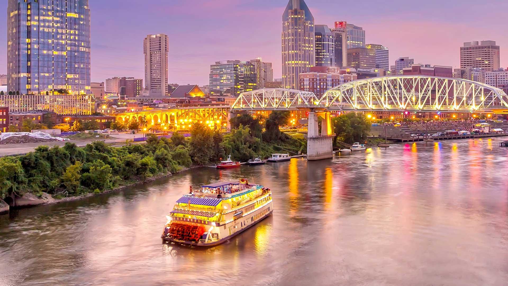 Tennessee skyline dusk