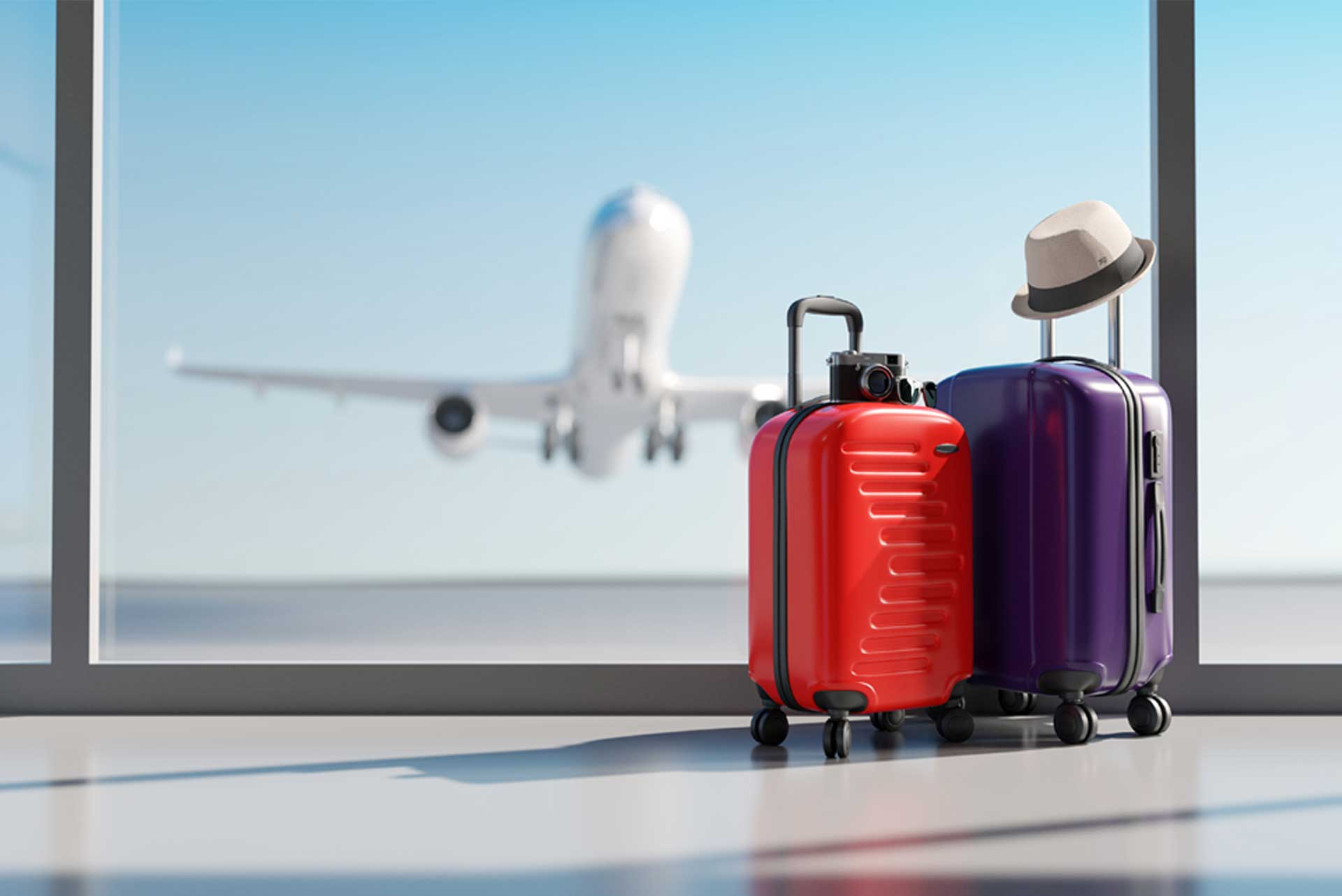 Suitcases at airports